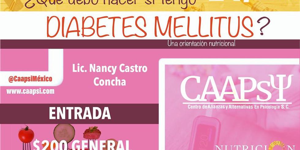 ¿Que debo hacer si tengo diabetes mellitus?