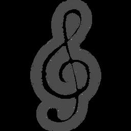 ト音記号の無料アイコン3