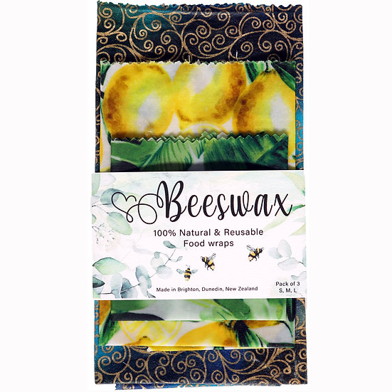 beeswax food wrap 100% natural New Zealand made South Coast bees