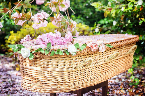 Coffin willow eco friendly wicker casket tributes funeral supplies new zealand