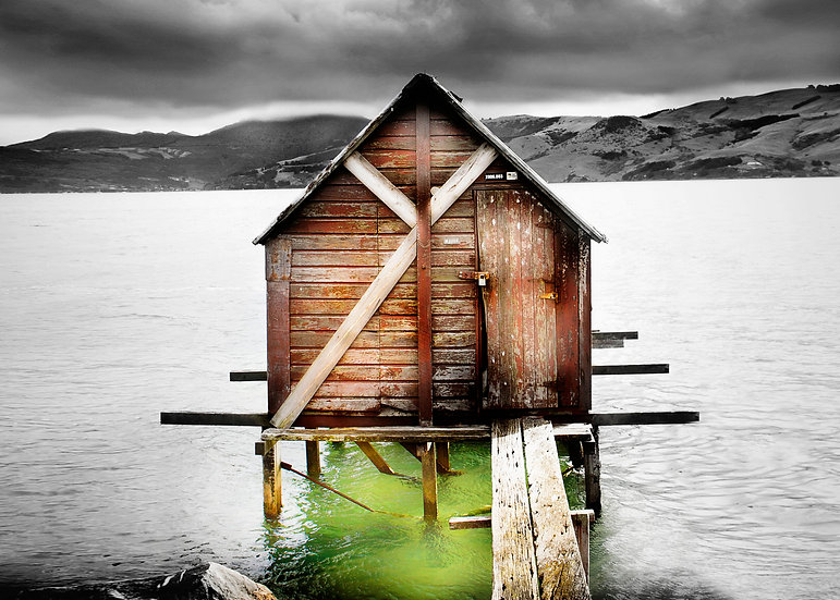 Photo Otakou Boatshed, Otago Peninsula, Dunedin, New Zealand ©Starfish Photos | Michele Newman Photographer