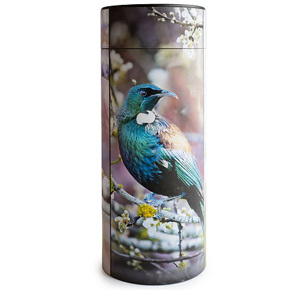 remembrance cremation ash scatter tube new zealand native bird tui fantail waxeye ©tribtutes funeral supplies