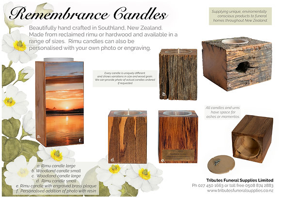 Remembrance candle collection brochure