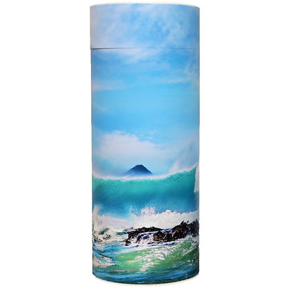 cremation ash scatter tube new zealand surf wave island beach ©tributes funeral supplies
