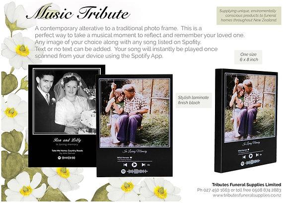 Music Tribute brochure