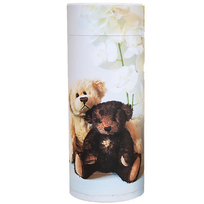 remembrance cremation ash scatter tube urn teddy bears ©tributes funeral supplies