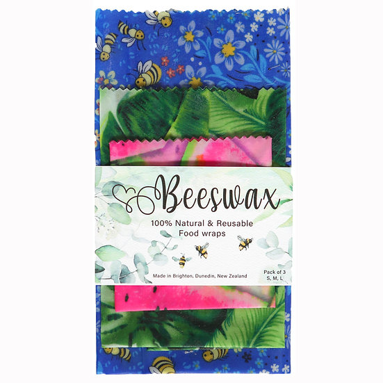 beeswax food wrap 100% natural New Zealand made