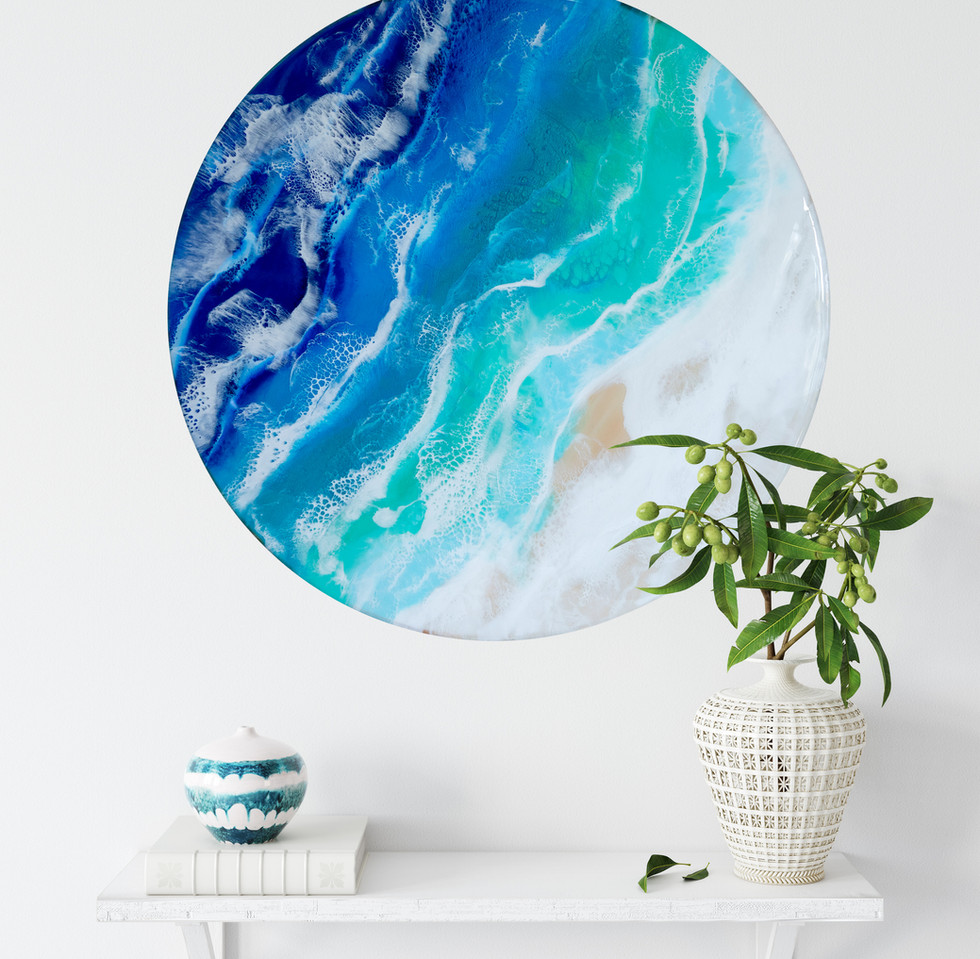 Resin Wall art ocean coast round.jpg