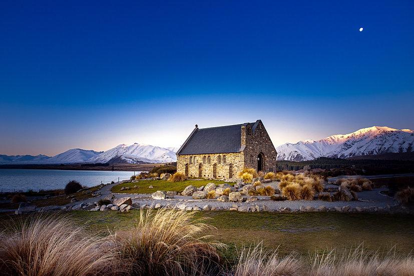 Church of Good Shepherd Lake Tekapo Photo South Island New Zealand ©Starfish Photos | Michele Newman Photographer