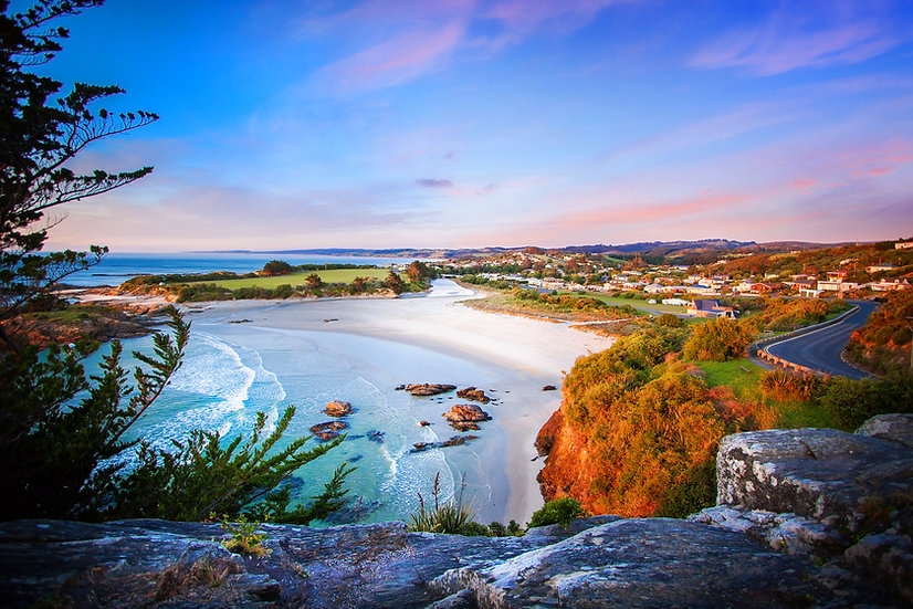 Brighton beach at Dawn - Dunedin - New Zealand ©Starfish Photos   Michele Newman Photographer