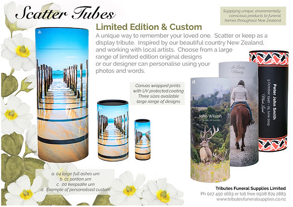 Limited Edition Scatter Tube brochure