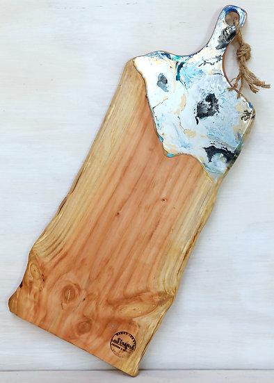 resin art serving cheese grazing board macrocarpa or oregon ©starfish photos