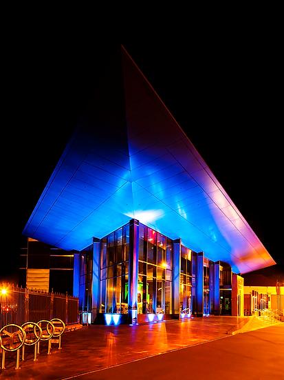 Photo of Toitu Otago Early Settlers Museum at Night ©Starfish Photos, Michele Newman Photographer