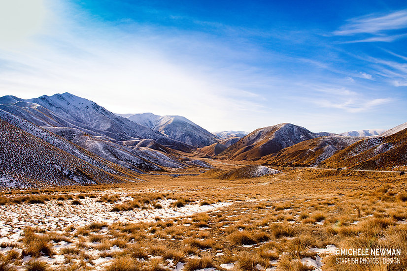 Lindis Pass Tussock Central Otago South Island New Zealand landscape photo ©Starfish Photos | Michele Newman Photographer