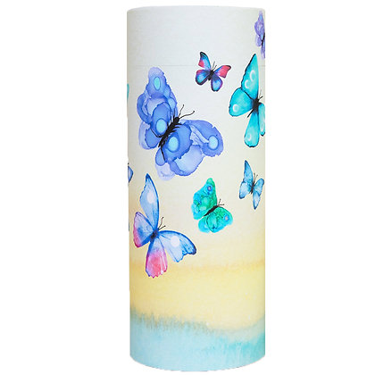 remembrance cremation ash scatter tube urn watercolour butterflies ©tributes funeral supplies