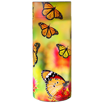 remembrance cremation ash scatter tube monarch butterflies ©tributes funeral supplies