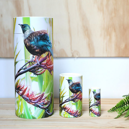 scatter tube urn cremation remembrance ashes eco collection new zealand tui bird tributes funeral supplies