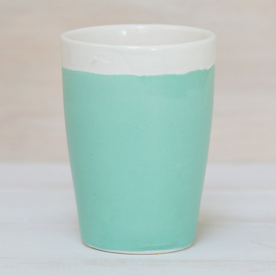 ceramic pottery keep cup abbots matte turquoise glaze coastal colours by starfish photos | design