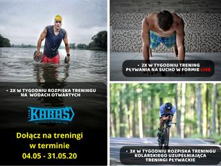 Dołącz na treningi w terminie 04.05 - 31.05.20