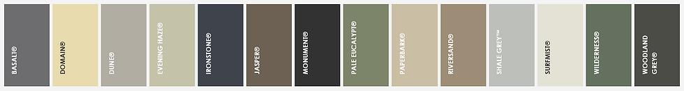 colorbond fencing colours