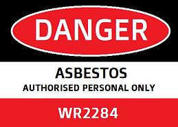 WR2284 Asbestos Licence