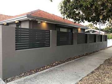 aluminium slat and colorbond fence