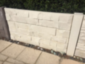 post and panel retaining wall