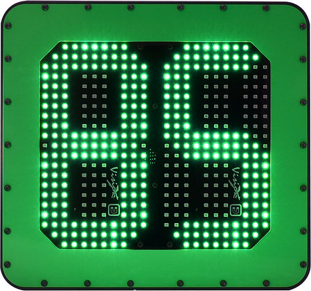LED mining Vehicle id number board green