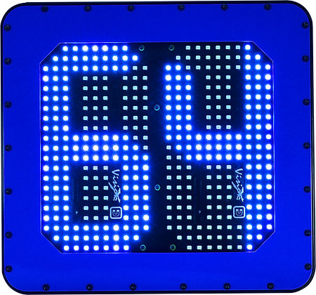 LED mining Vehicle id number board blue