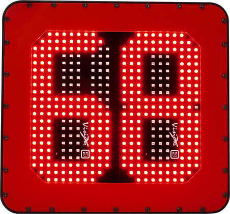 LED mining Vehicle id number board red