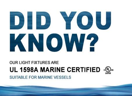 UL 1598A Marine Certified