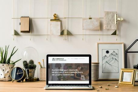 """Création du site web """"Commerces Côte Emeraude"""""""