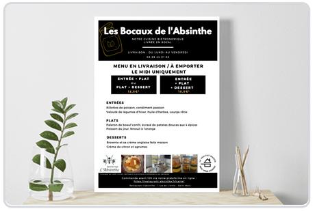 """Flyer """"Les Bocaux de l'Absinthe"""""""