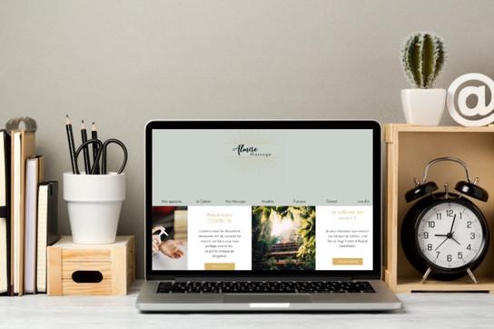 Création du site web Almire Massage