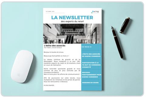 Création d'une Newsletter mensuelle