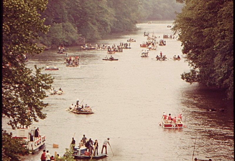 The Ramblin' Raft Race, an annual event in Atlanta, was cancelled in 1980 due to environmental concerns.