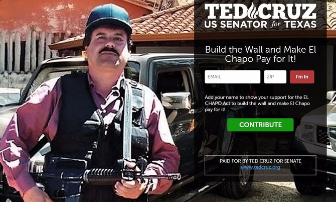 Cruz Creates Petition: Build the Wall, Make El Chapo pay for It!