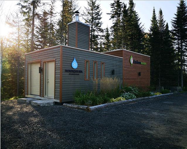 Chaufferie Carbonaxion biomasse au Nordique spa Stoneham