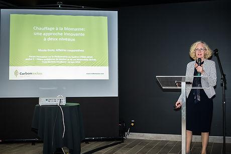 Présentation sur le chauffage à la biomasse au Forum innovation sur la Bioéconomie au Québec (FIBEQ 2019)organisé par le CRIBIQ