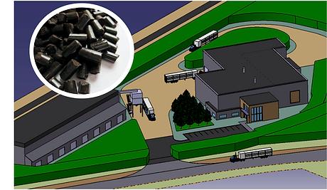 Usine de production de granules de bois torréfié (biocharbon)