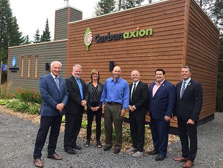 Inauguration de la chaufferie à la biomasse de Carbonaxion desservant le Nordique spa Stoneham