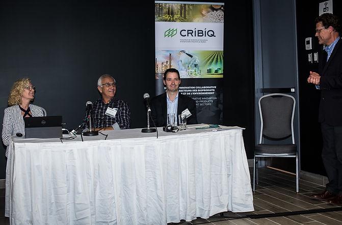Présentation sur le chauffage à la biomasse au Forum innovation sur la Bioéconomie au Québec (FIBEQ 2019) organisé par le CRIBIQ