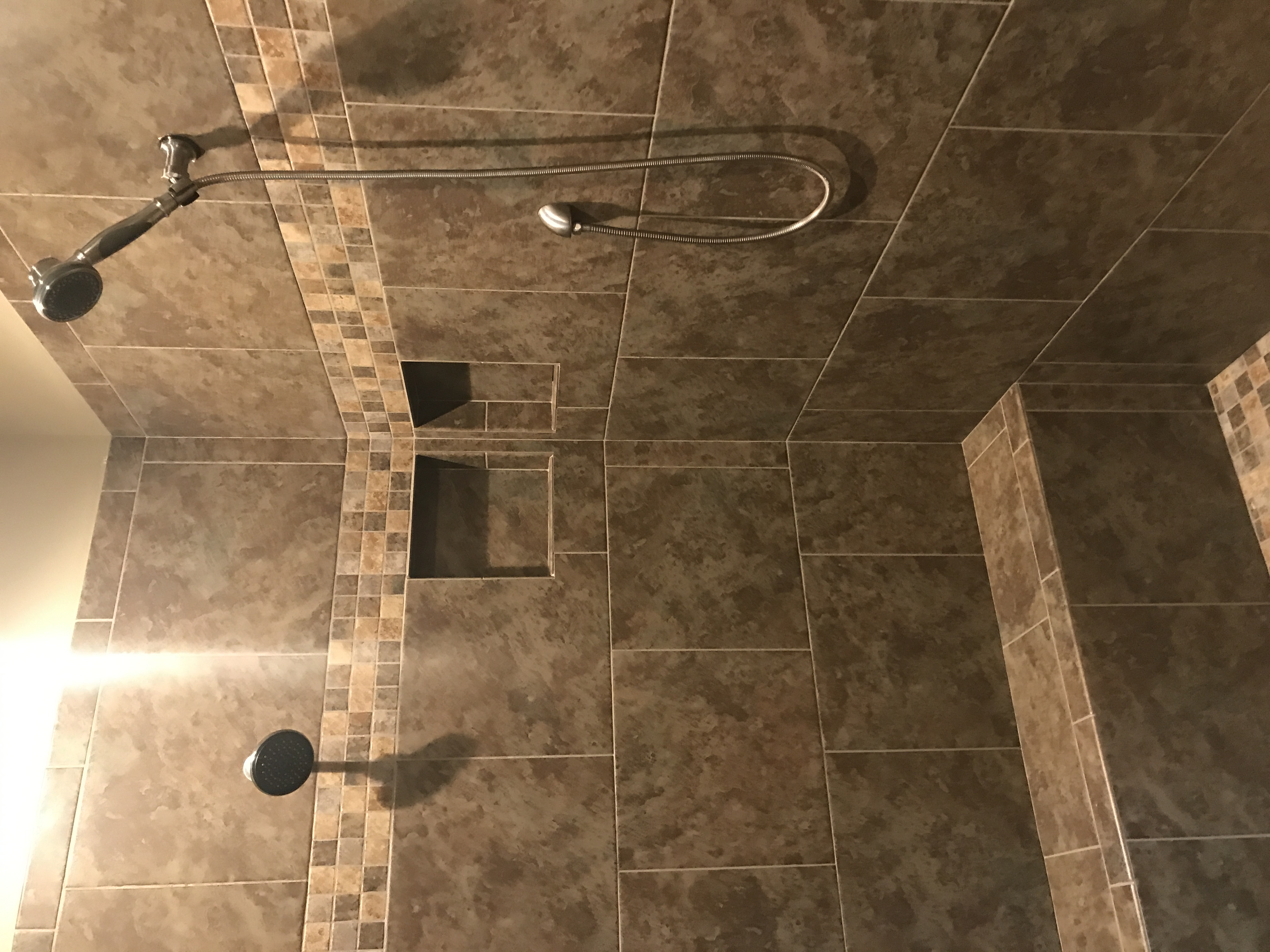Ceramic tile in shower