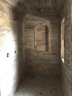 Shower room ceramic installation