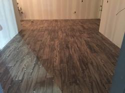 Hallway hardwood floor installation