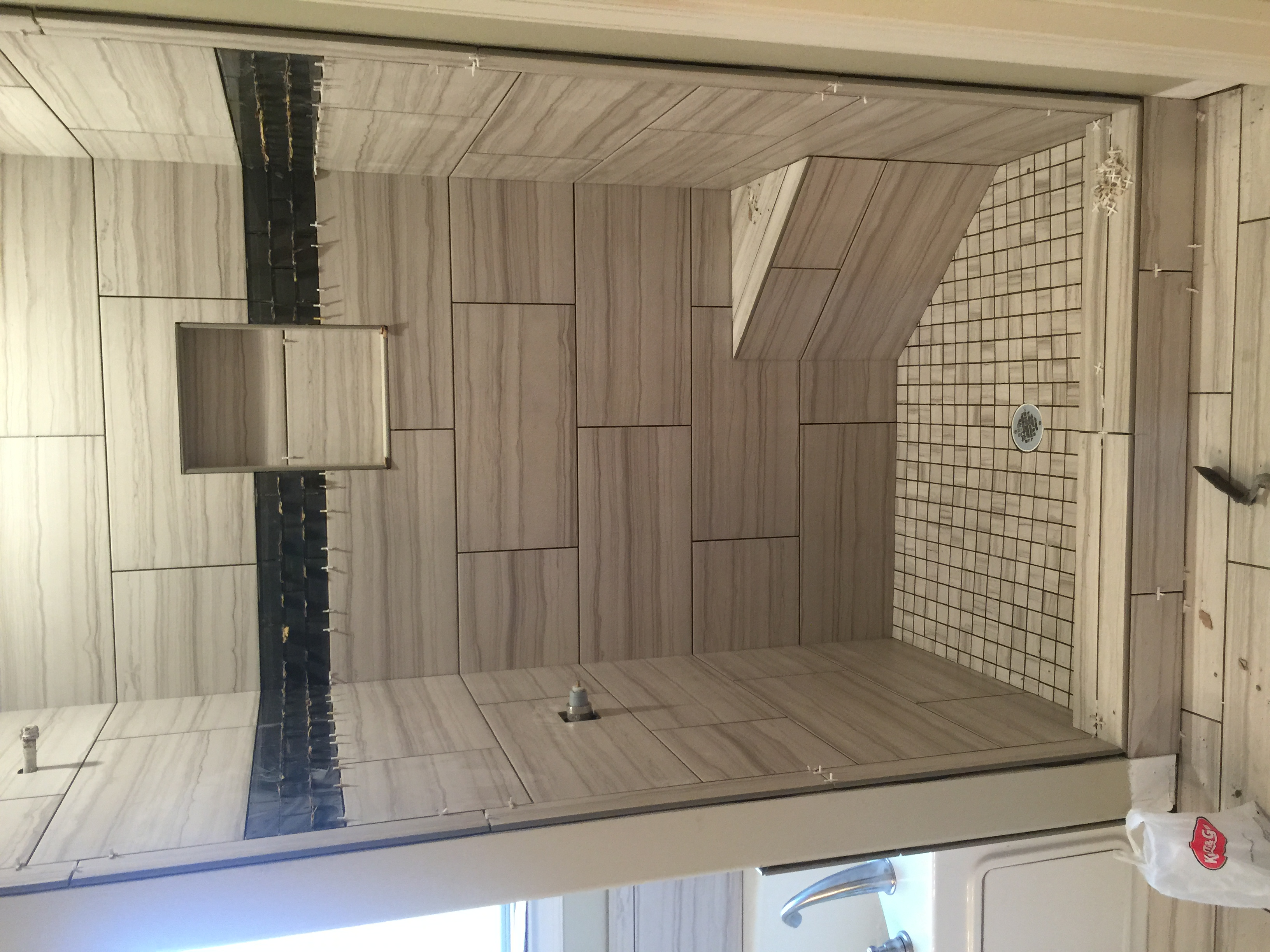Ceramic Installation in shower