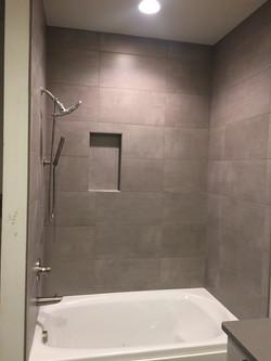 Tile installation in shower