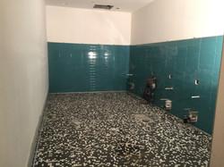 Shower room with ceramics
