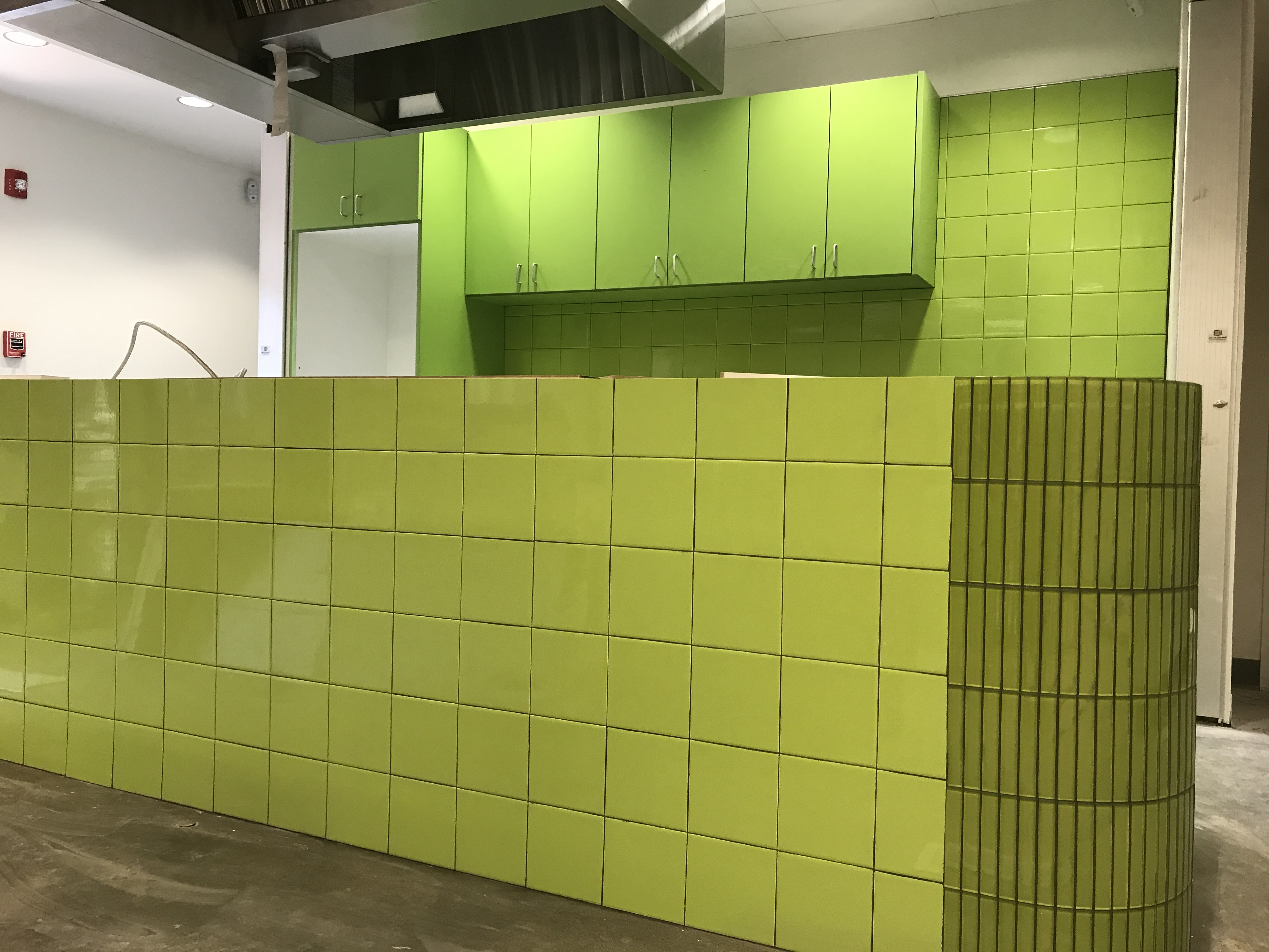 Ceramic walls for restaurant