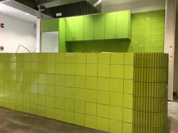 Ceramic walls for restaurant